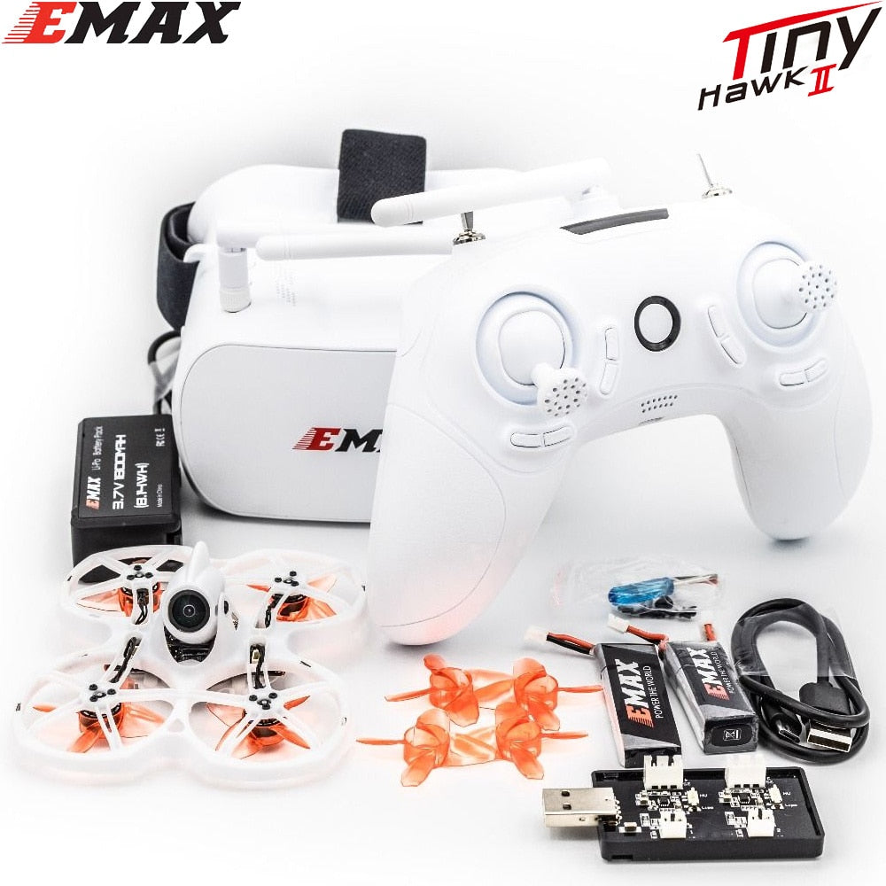 Tinyhawk S II ,Emax FPV Racing Drone with F4 FC,16000KV Motor,Support 1/2S Battery 5.8G FPV Glasses - Smoulder Products