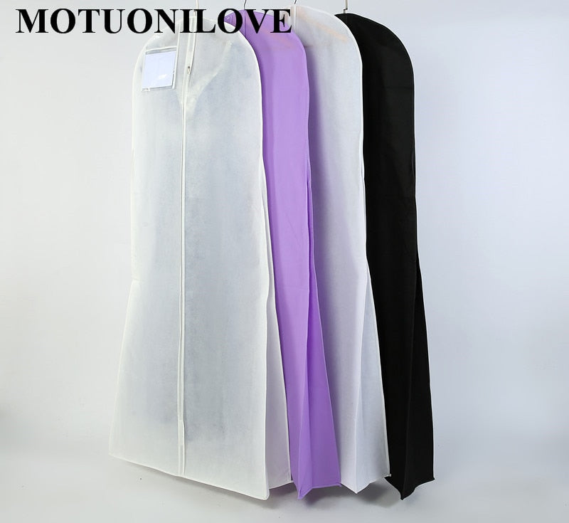 Length 180cm For Wedding Dress Bag Clothes Cover Dust Cover Garment Bags Bridal Gown Bag For Mermaid Wedding Dress Cover M0804 - Smoulder Products