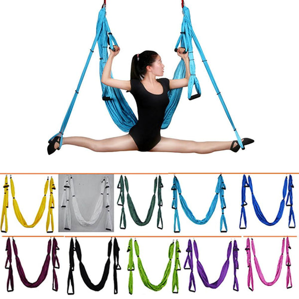 Anti-Gravity Yoga Hammock Fabric Yoga Flying Swing Aerial Traction Device  Hammock  Equipment For Pilates Body Shaping
