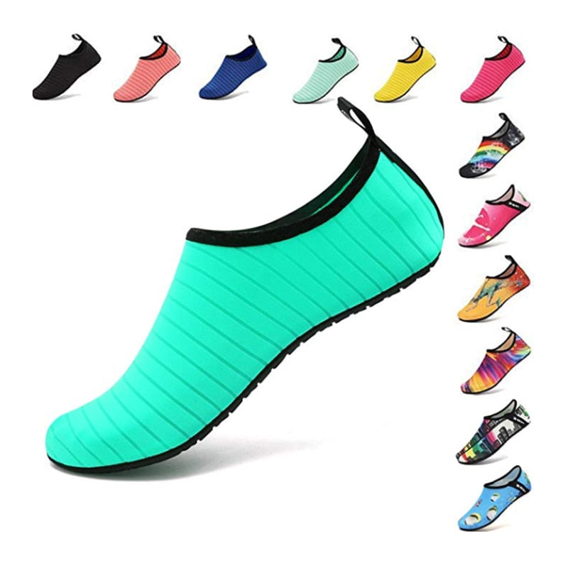 Summer Water Shoes Men Swimming Shoes Aqua Beach Shoes Big Plus Size Sneaker for Men Striped Colorful zapatos hombre - Smoulder Products