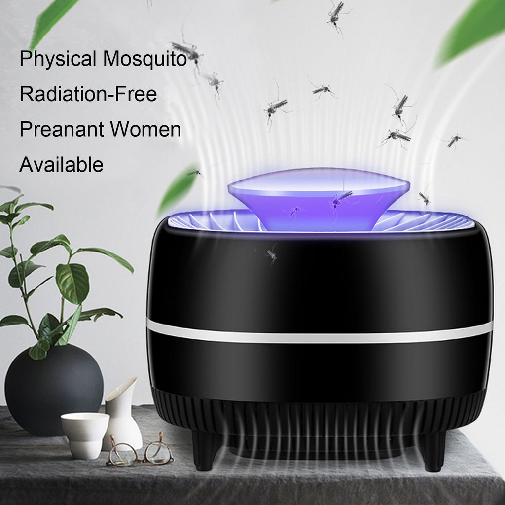 Behogar USB Powered Suck-in Electric Silent LED Anti Mosquito Killer Trap Light Lamp Pest Control Trap Fly Repellent Catcher - Smoulder Products