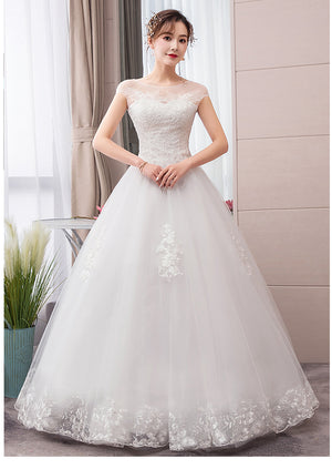 Luxury Wedding Dress 2020 New Style French Bride Retro Female Wedding Dresses Ball Gowns Bridal Lace Up Embroidery Dress - Smoulder Products