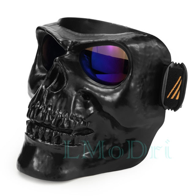 LMoDri Motorcycle Goggles Helmet Mask Outdoor Riding Motocross Skulls Windproof Wind Glasses Sandproof Goggle Kinight Equipment - Smoulder Products
