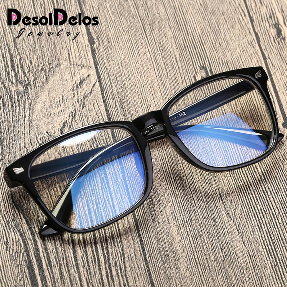 Blue Light Blocking Glasses Women Men Vintage Eyeglass Woman Frame Oversize Square Black Men Optical Computer Reading Eyeglasses