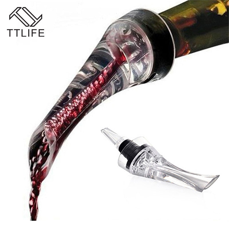 TTLIFE Red Wine Aerating Pourer Spout Decanter Wine Aerator Quick Aerating Pouring Tool Pump Portable Filter Bar Accessories - Smoulder Products