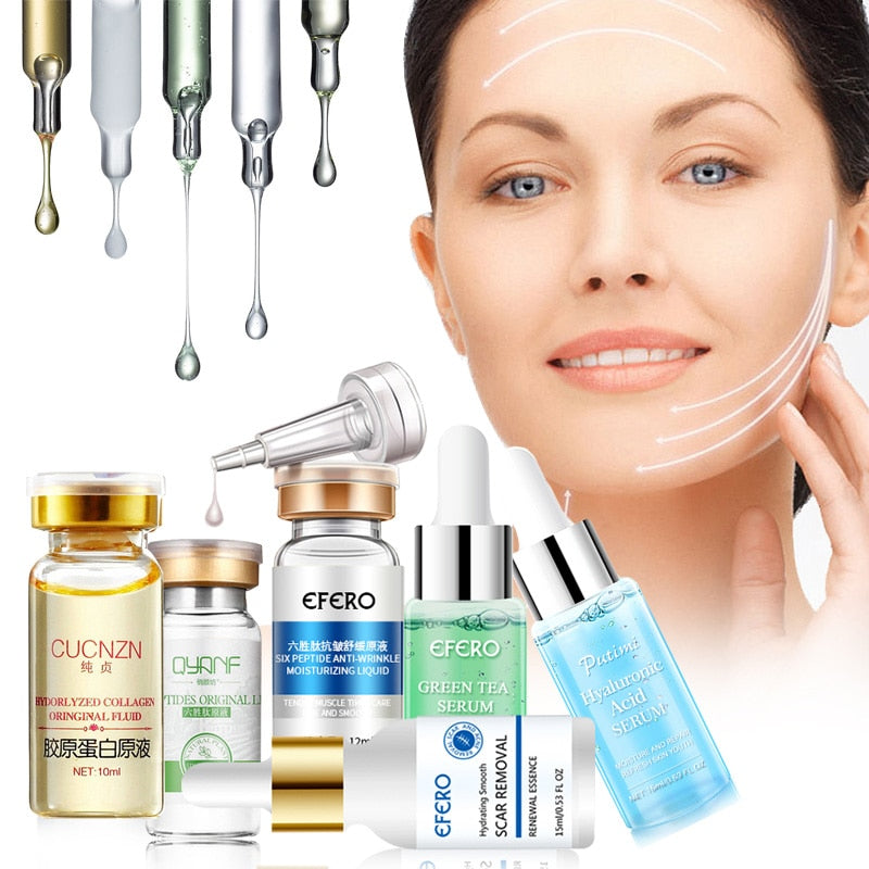 Hyaluronic Serum Six Peptides AntiAging Wrinkle Serum Whitening Cream Acne Treatment Scar Removal Essence Face Cream - Smoulder Products
