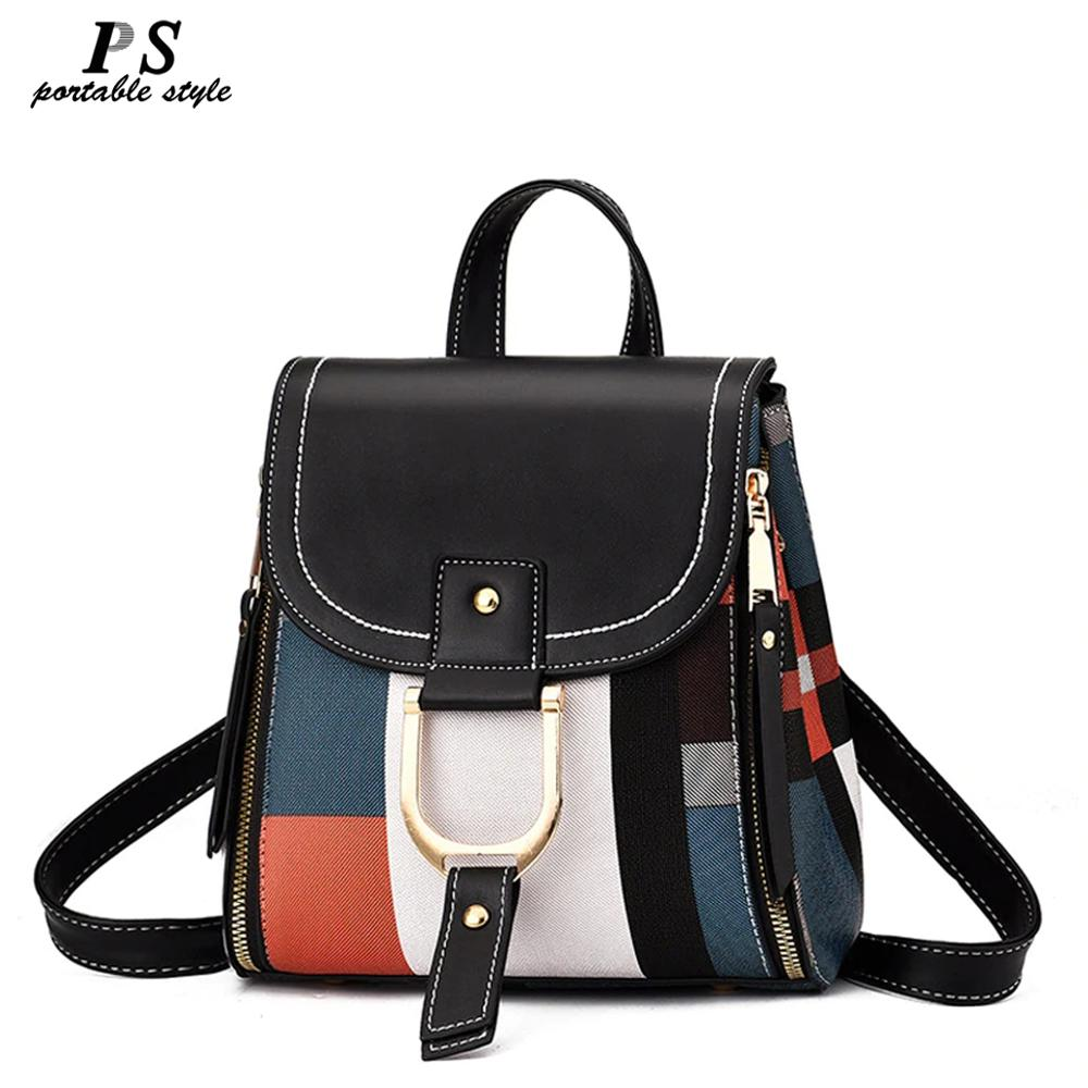 High Quality PU Leather Women Backpack Bag Shoulder School Bag for Girls Teenage Multi-use Daypack Knapsack Hand Bag Crossbody - Smoulder Products