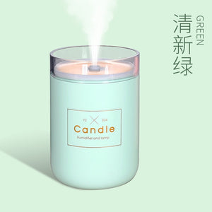280ML Ultrasonic Air Humidifier Candle Romantic Soft Light USB Essential Oil Diffuser Car Purifier Aroma Anion Mist Maker 2019 - Smoulder Products
