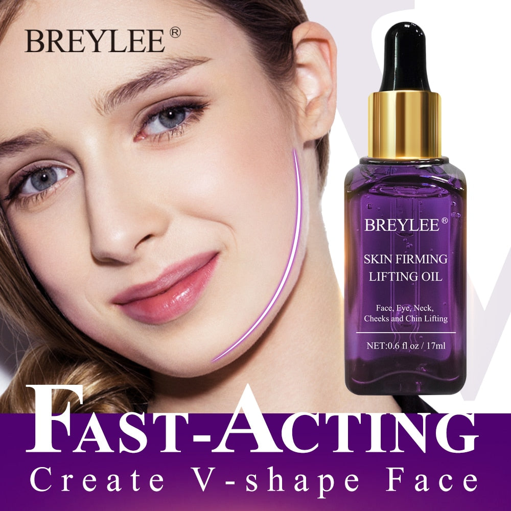 BREYLEE Face Serum Powerful Firming Lifting Rapid Create V Shape Face Facial Essence Massage Skin Care Anti Wrinkles Aging Serum - Smoulder Products