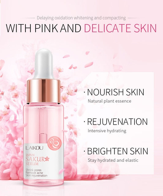 LAIKOU Essence 24k Snail stock solution Hyaluronic acid Cherry blossoms Face Serum Moisturizing WhiteningNicotinamide Hyaluronic - Smoulder Products