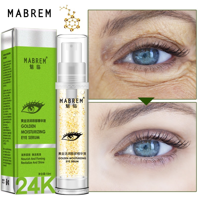 MABREM 24k Golden Eye Serum Moisturizing Anti-Wrinkle Anti-Age Hyaluronic Acid Remover Dark Circles Against Puffiness And Bags - Smoulder Products
