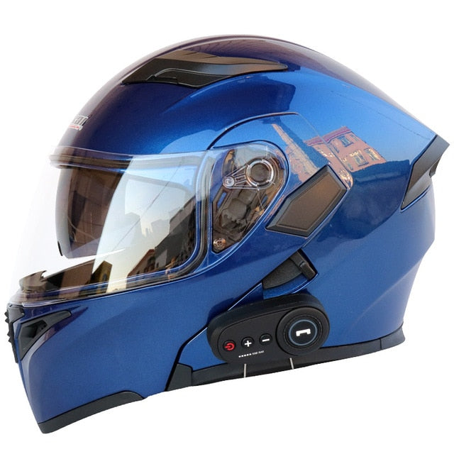 Motorcycle helmet motorcycle bluetooth helmet electric vehicle helmet 1200 mAh battery life - Smoulder Products