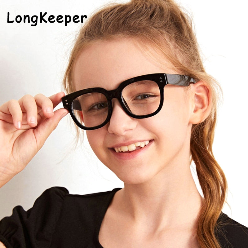 Square Blue Light Kids Glasses Optical Frame 2020 Children Boy Girls Computer Transparent Blocking Anti Reflective Eyeglasses UV - Smoulder Products