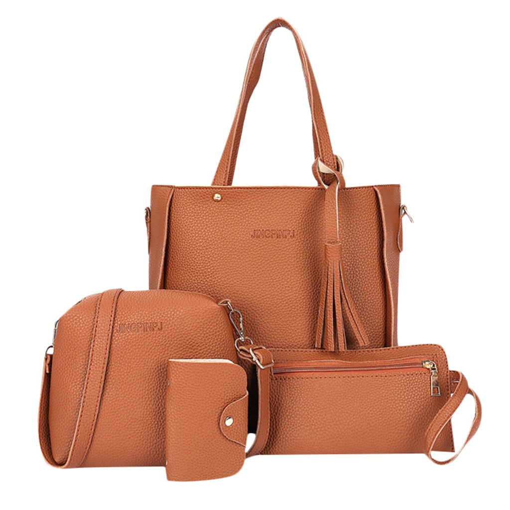 Luxury Handbag Composite Woman Bag bolsa feminina Ladies Hand Bags Woman Tote Bag Set  Crossbody Bags For Women  Lady Purse Set - Smoulder Products