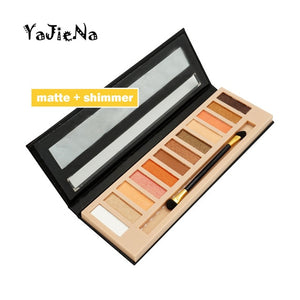 Branded Cosmetic Makeup Glitter Shimmer Matte Eye Shadow Palette Make Up 12 Colors Eyeshadow Palette Nudes Matte Women gift - Smoulder Products