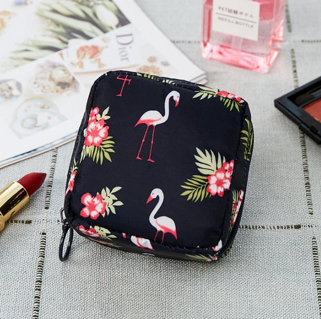 1 pc Mini Solid Color Flamingo Cosmetic Bag Cactus Travel Toiletry Storage Bag Beauty Makeup Bag Cosmetic Bag Organizer Hot Sale - Smoulder Products