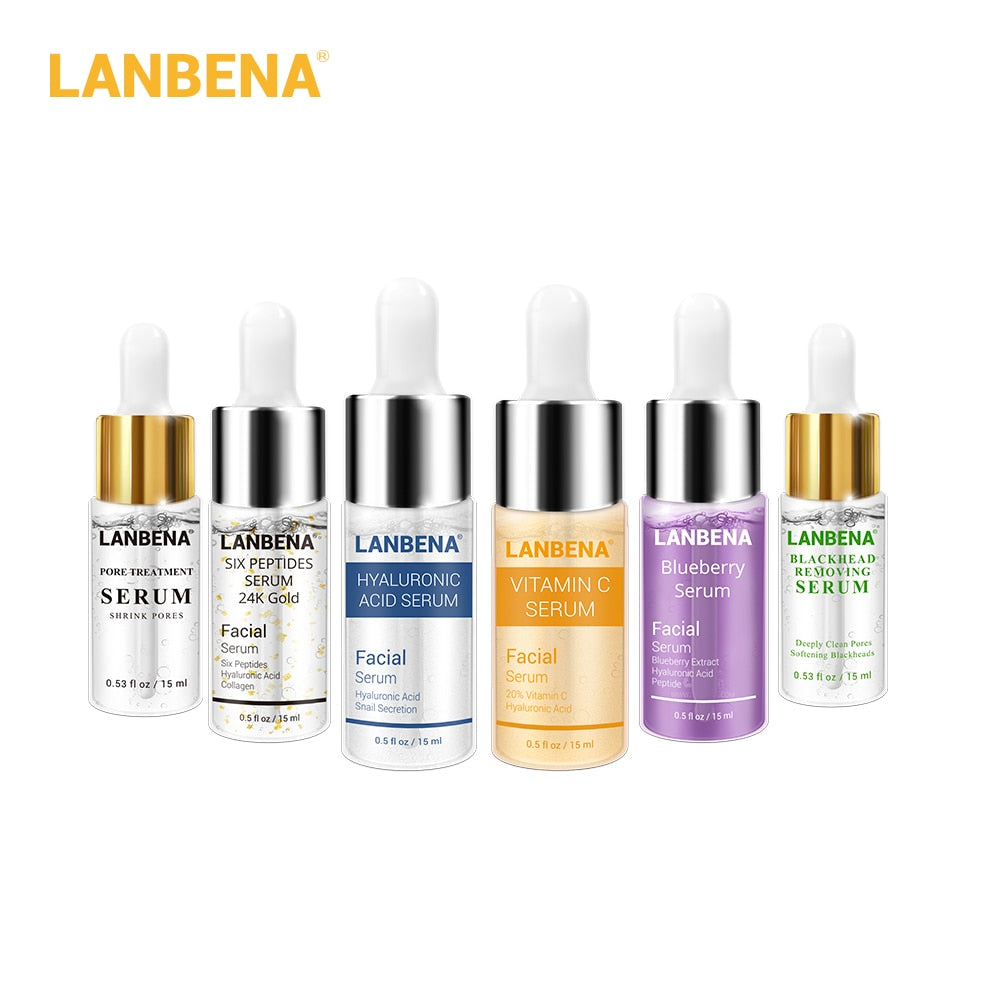 LANBENA Face Serum Acne Treatment Blackhead Remover Anti Wrinkle Aging Firming Shrink Pore Whiten Moist Facial Essence Skin Care