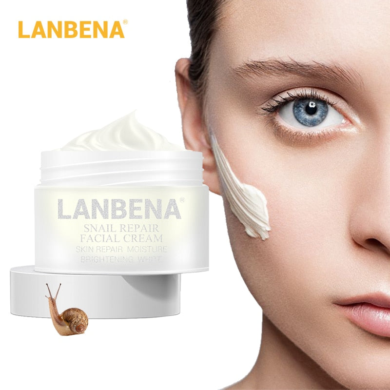 LANBENA Snail Repair Whitening Facial Cream Day Cream Anti Wrinkle Anti Aging Acne Treatment Moisturizing Firming Skin Care 30g - Smoulder Products