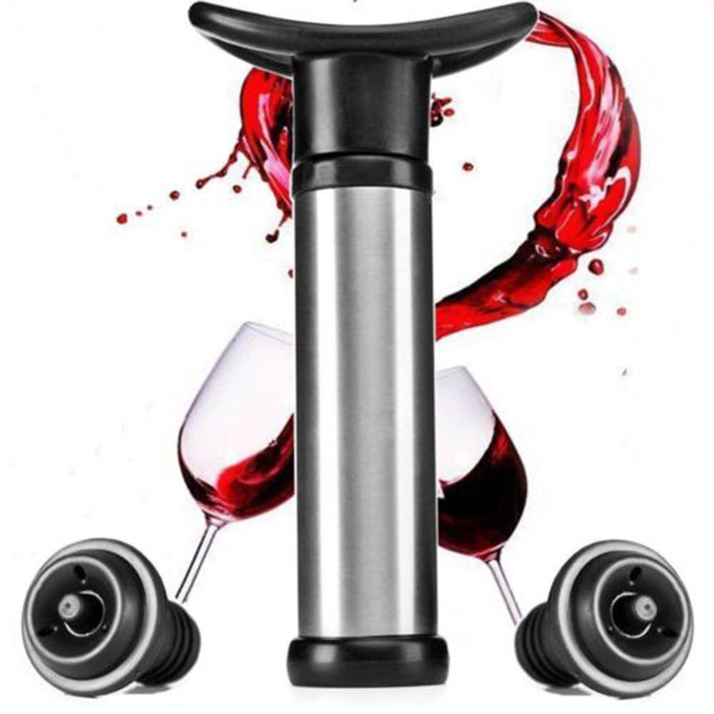 Wine Stopper Silicone Plug With Pump Wine Bottle Stopper Sealer Vacuum Saver Preserver Reusable Bottle Cap Bar Accessories - Smoulder Products