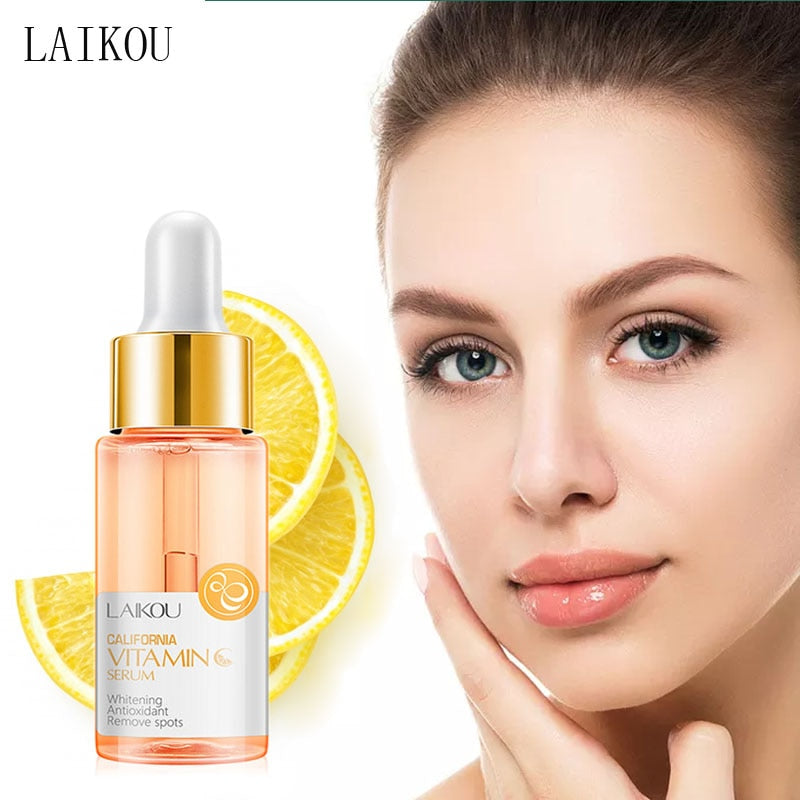 LAIKOU Vitamin C Whitening Facial Serum Hyaluronic Acid Moisturizing Acne Removal Anti-wrinkle Anti-Aging Face Essence liquid