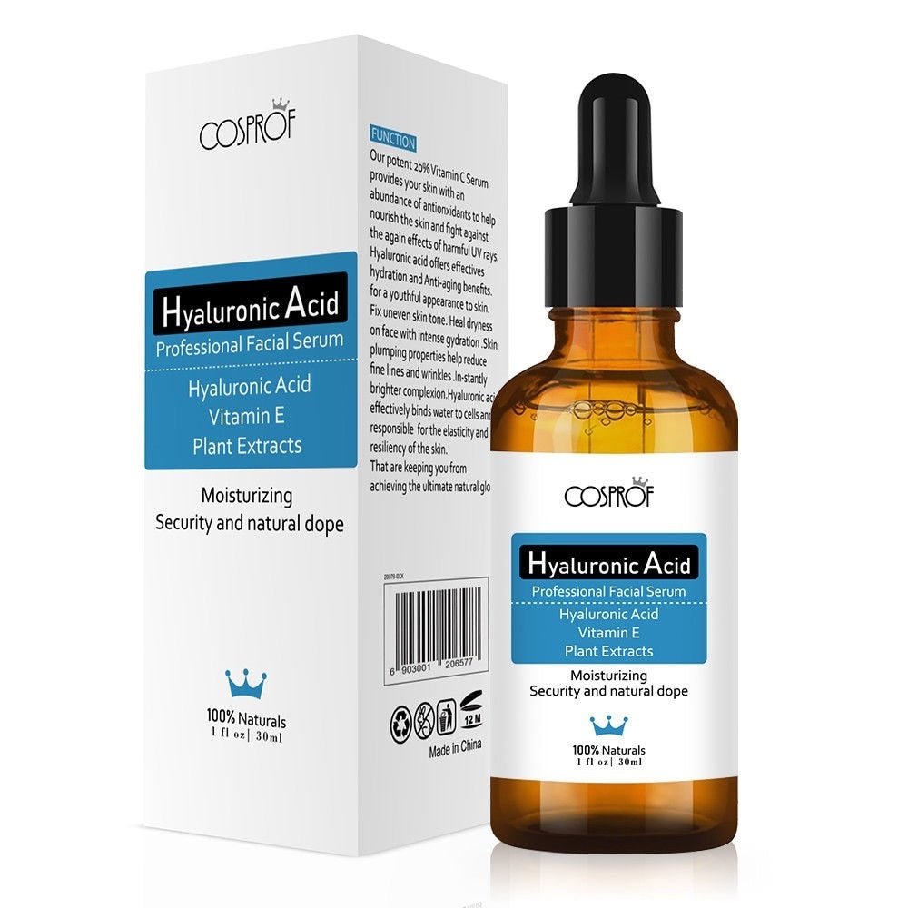 Cosprof Hyaluronic Acid Serum Moisturizer Facial Skin Care Set Anti Wrinkle Anti Aging Collagen Essences Liquid - Smoulder Products
