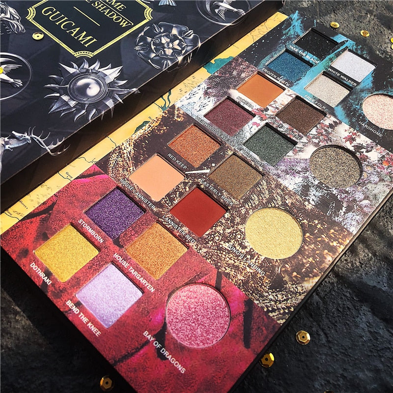 2019 New Guicami Game Of Thrones  20 Colors  Shimmer Matte Metallic Eye Shadow Nude Cosmetic - Smoulder Products