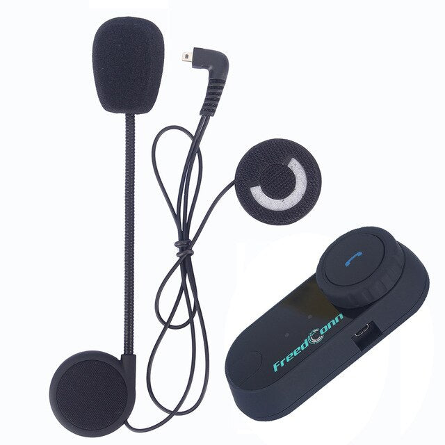 Original FreedConn TCOM-OS 100m Bluetooth Motorcycle Helmet Intercom Interphone Headset With FM Radio T-COM OS Intercomunicador - Smoulder Products