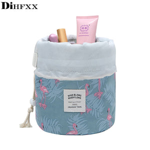 DIHFXX Women Lazy Drawstring Cosmetic Bag Fashion Travel Makeup Bag Organizer Make Up Case Storage Pouch Toiletry Beauty Kit - Smoulder Products