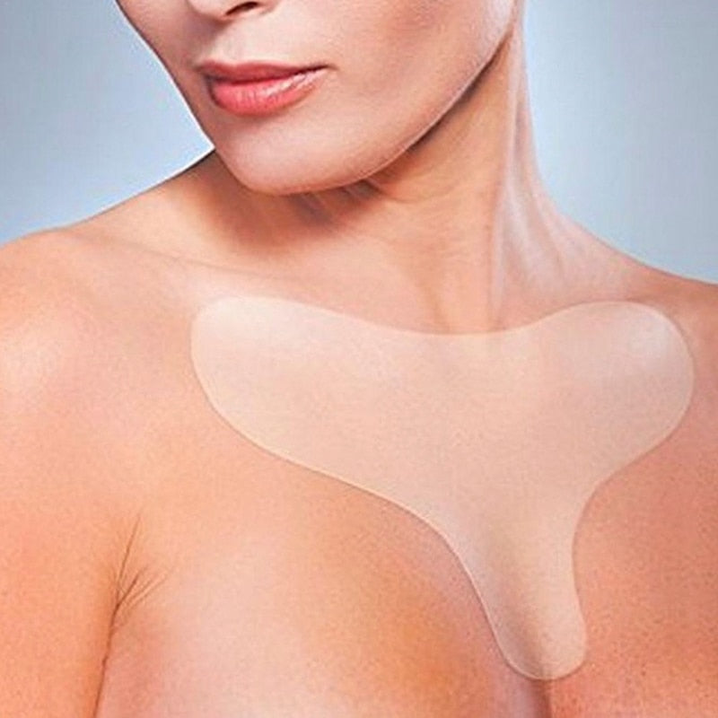 Reusable Anti Wrinkle Chest Pad Silicone Transparent Removal Patch Face Skin Care Anti Aging Breast Lifting Chest Patch Flesh - Smoulder Products