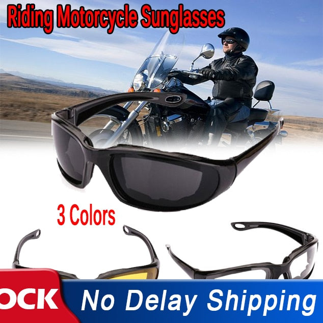 Riding Motorcycle Sunglasses Outdoor Sports Cycling Goggles Bike Black Frame Eyewear Windproof Lightproof Motorbike Men Eyewear - Smoulder Products