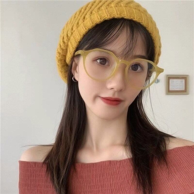 Anti Blue Light Filter Eyeglasses Frame Women Blue Light Blocking Anti Radiation Computer Glasses Super Light Full Frame Round