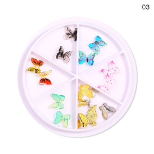 Mixed Color Chameleon Stone Nail Rhinestone Small Irregular Beads  3D Nail Art Decoration In Wheel Accessories - Smoulder Products