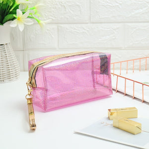 Miyahouse Hot Sale Laser Deisgn Transparent Travel Bag Female Waterproof Jelly Bag PVC Cosmetic Bag For Female Makeup Bag - Smoulder Products