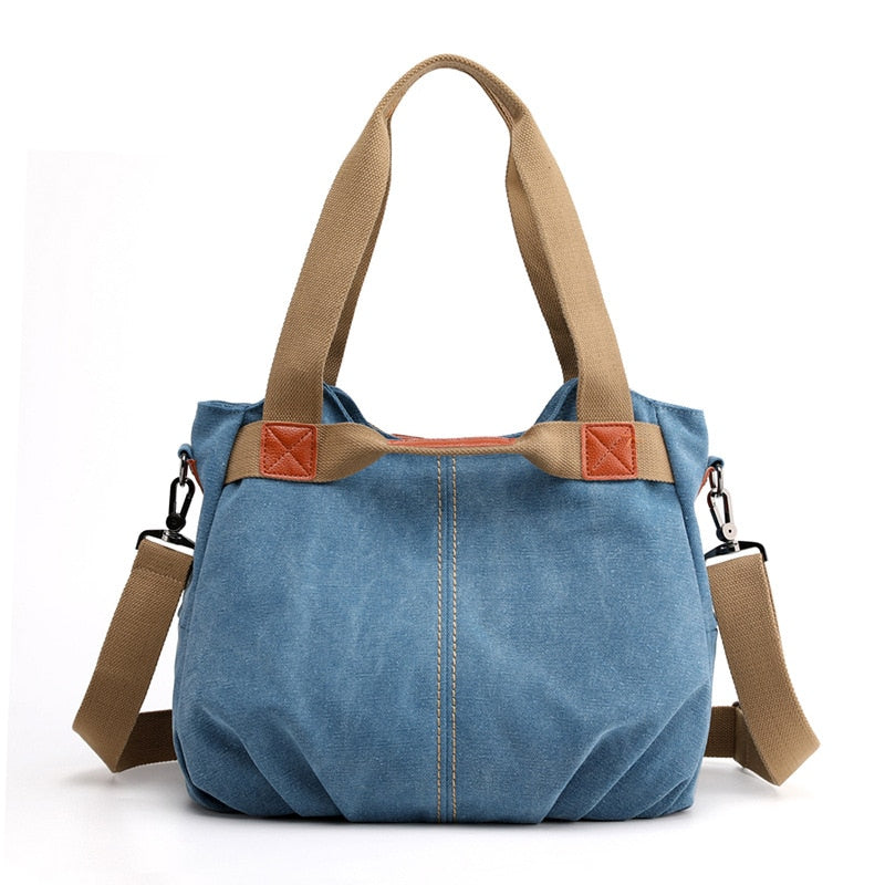 High Quality 2020 Brand Hot Design Classic Solid Casual Tote Women'S Handbag Shoulder Crossbody Fashion Canvas Hand Bags - Smoulder Products