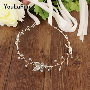 YouLaPan Silver Leaves Rhinestone Belt for Evening Dress Belt Simple Bridal Belts Wedding Dress Sash Belt Party Belts SH114 - Smoulder Products