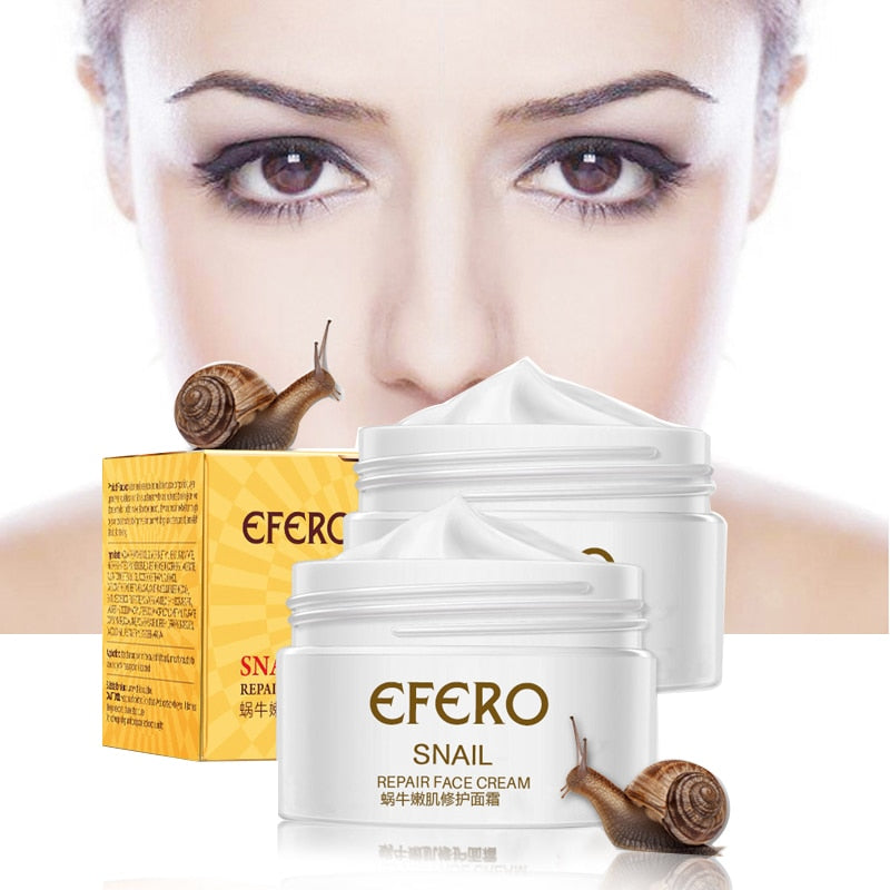 EFERO Anti Aging Snail Essence Face Cream Whitening Snail Cream Serum Moist Nourishing Lifting Face Skin Care anti wrinkle Cream - Smoulder Products