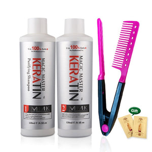 120ml MMK keratin Treatment Keratin Coconut Oil Hair Straightening Cream Without Formalin Hair Treatment Set+Free Red Comb - Smoulder Products