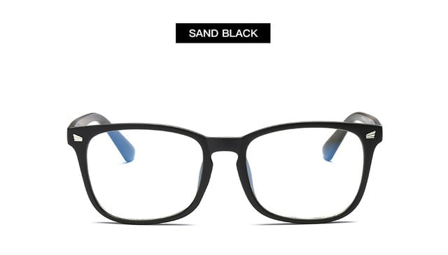 Blue Light Blocking Glasses Women Men Vintage Eyeglass Woman Frame Oversize Square Black Men Optical Computer Reading Eyeglasses - Smoulder Products