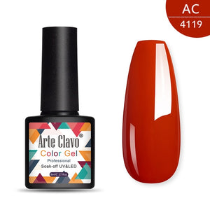 Arte Clavo 8ml UV Gel Nail Polish Red Color Gel Polish Soak Off Nude Gel Varnish Lacquer Nail Art Vernis Manicure Semi Permanant - Smoulder Products