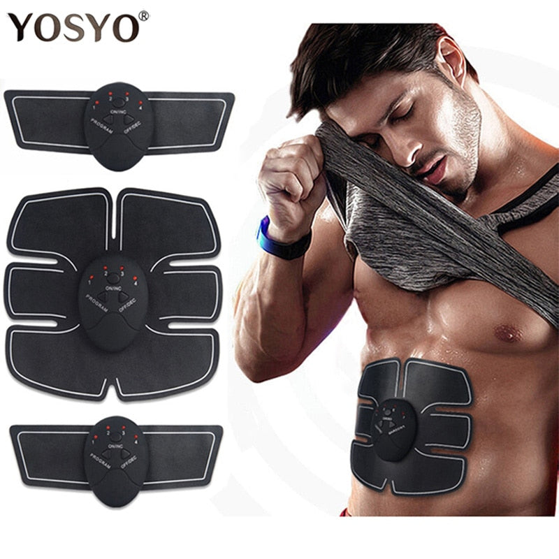 EMS Wireless Muscle Stimulator Trainer Smart Fitness Abdominal Training Electric Weight Loss Stickers Body Slimming Massager - Smoulder Products
