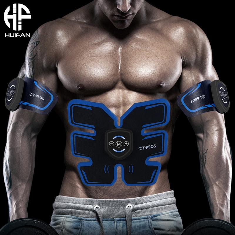 HUIFAN Muscle Stimulator Abdominal Musculaire Electro stimulation Stimulateur ABS EMS trainer Home Gym Arm Leg Massage USB - Smoulder Products