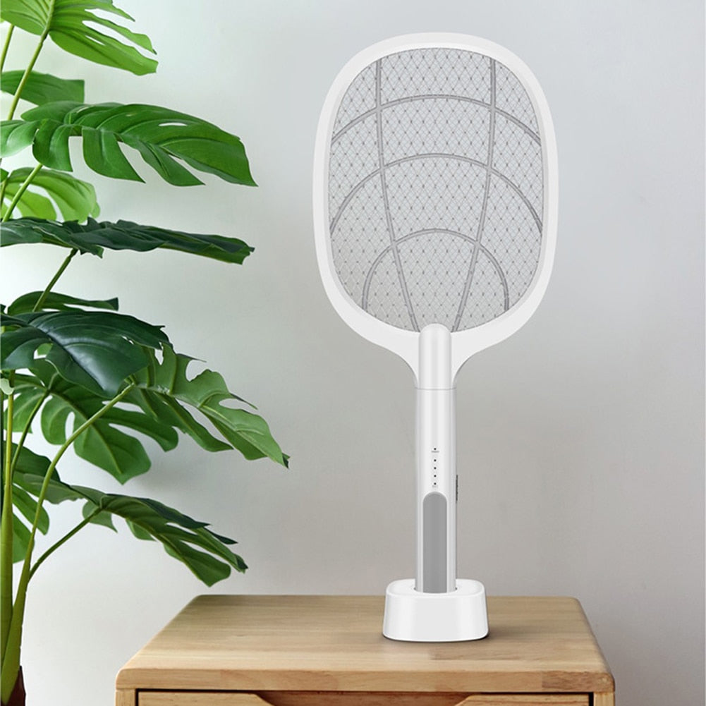 Handheld Home Electric Fly Mosquito Swatter Racket Bug Racket Insects Killer Home Garden Pest Bug Anti Mosquito Fly Trap Lamp - Smoulder Products