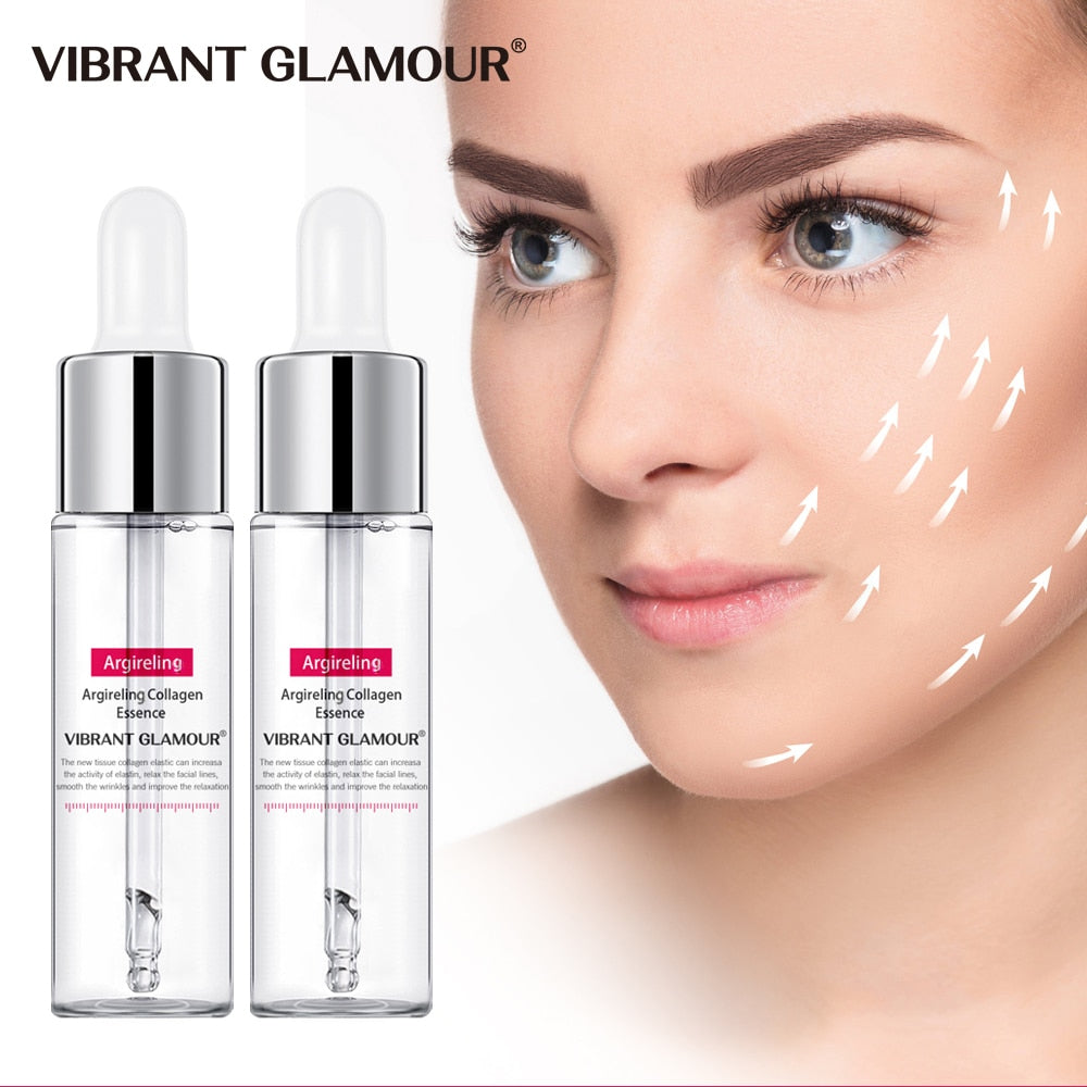VIBRANT GLAMOUR 2Pcs Six Peptides Collagen Face Serum Anti-Aging Wrinkle Essence Lift Firming Whitening Moisturizing Skin Care - Smoulder Products