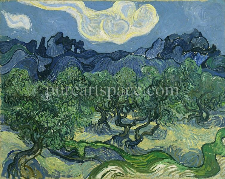 Olive Trees by Vincent Van Gogh - Oil Painting Reproduction on Canvas Hand Painted Painting For Home Living Room Wall Art - Smoulder Products
