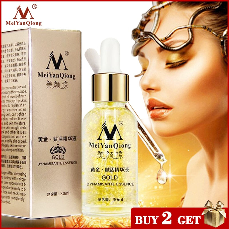 Skin Care 24K Gold Essence Day Cream Anti Wrinkle Face Care Anti Aging Collagen Whitening Moisturizing Hyaluronic Acid Ance - Smoulder Products