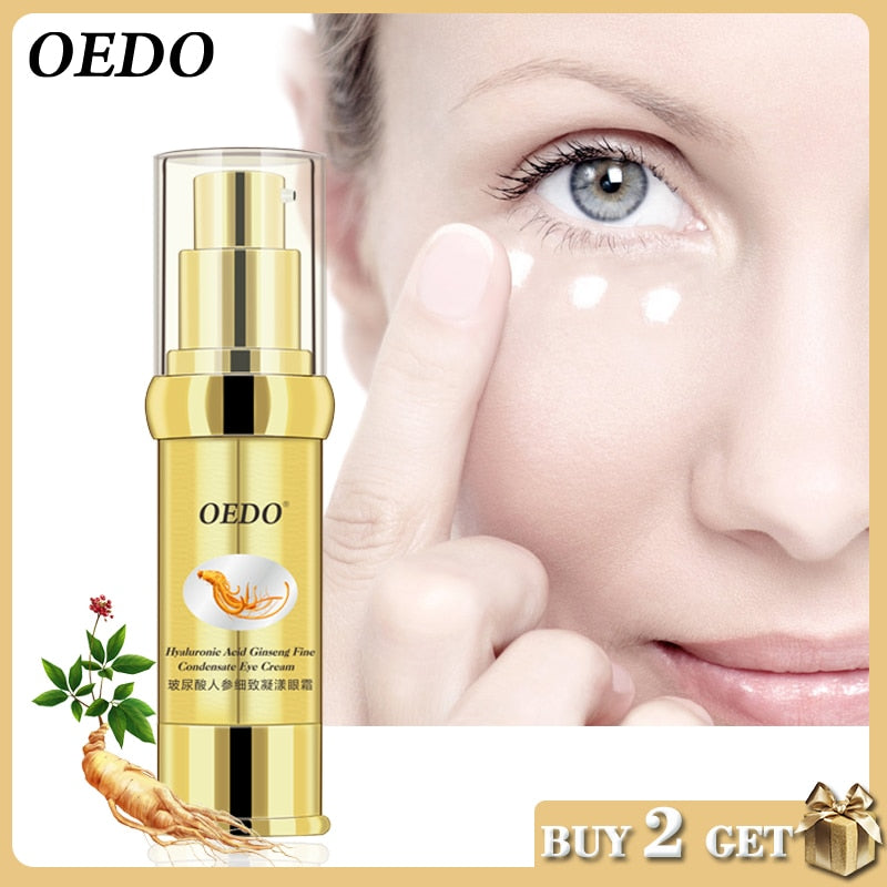 Hyaluronic Acid Ginseng Fine Condensate Eye Cream Delicate Bright Smooth Herbal Ginseng Extract Anti-Puffiness Dark Circle Serum - Smoulder Products