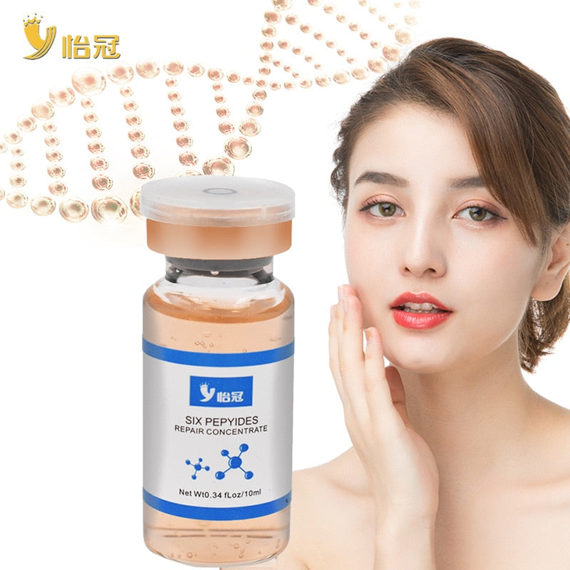 Hyaluronic Acid Six Collagen Peptides Anti Wrinkle Face Serum Anti-Aging Essence Moisturizing Whitening Cream - Smoulder Products