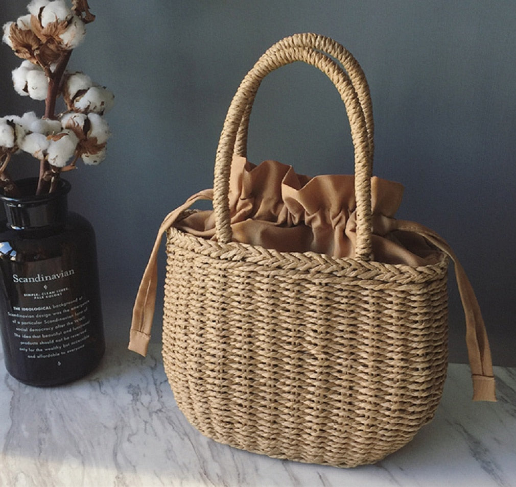 Straw Bags for Women Summer Hand-Woven Rattan Bag Handmade Woven Purse Wicker Beach Bag Bohemia Bali Handbag bolsos mimbre - Smoulder Products