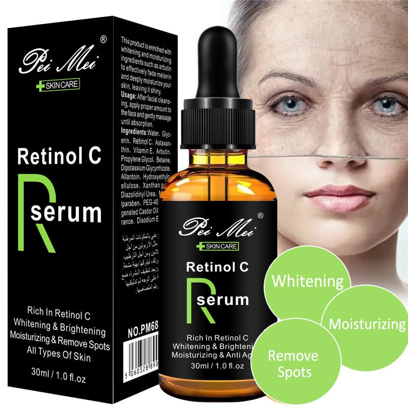 30ml Face Facial Serum Vitamin C Retinol Serum Firming Repair Skin Anti Wrinkle Anti Acne Anti Aging Serum lifting Skin Care - Smoulder Products