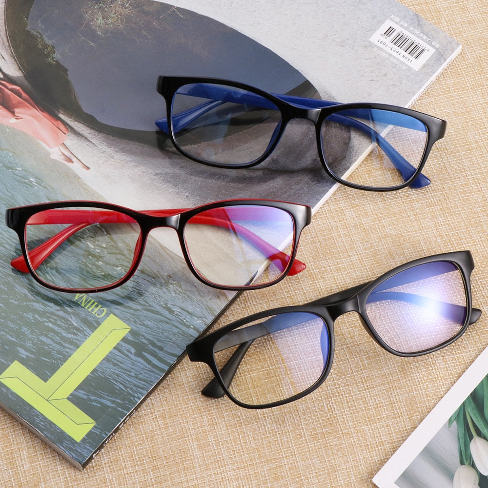 1PC Blue Light Glasses Anti Blue Rays Radiation Blocking Glasses Men Women Computer Goggles Anti-UV UV400 Flat Mirror Eyeglasses - Smoulder Products